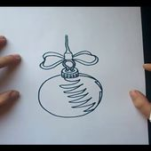 Como dibujar una bola de arbol de navidad paso a paso 3 | How to draw a ball of Christmas tree 3