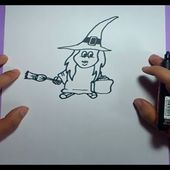 Como dibujar una bruja paso a paso 4 | How to draw a witch 4