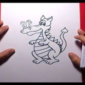 Como dibujar un dragon paso a paso 6 | How to draw one dragon 6