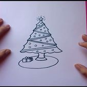 Como dibujar un arbol de navidad paso a paso | How to draw a Christmas tree