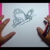 Como dibujar una mariposa paso a paso 8 | How to draw a butterfly 8