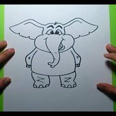 Como dibujar un elefante paso a paso 3 | How to draw an elephant 3
