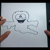 Como dibujar un fantasma paso a paso 7 | How to draw a ghost 7