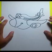 Como dibujar un avion paso a paso 3 | How to draw a plane 3