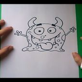 Como dibujar un monstruo paso a paso 4 | How to draw a monster 4