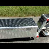 Packrat Trailer - Aluminum box single wheel trailer