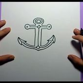 Como dibujar un ancla paso a paso 3 | How to draw a anchor 3