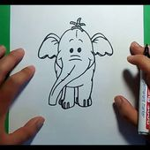 Como dibujar un elefante paso a paso 5 | How to draw an elephant 5