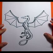 Como dibujar un dragon paso a paso 7 | How to draw one dragon 7