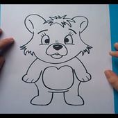 Como dibujar un oso de peluche paso a paso 5 | How to draw a teddy bear 5