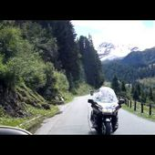 Descente de la Gletscherstrasse, Goldwing 1500