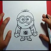 Como dibujar un minion paso a paso - gru mi villano favorito | How to draw a minion