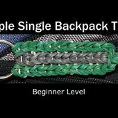 Rainbow Loom® Triple Single Backpack Tag