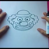 Como dibujar un payaso paso a paso | How to draw a clown