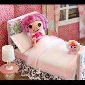 How to Make a Bed for a Mini Doll like LPS and Lalaloopsy