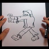 Como dibujar a Frankenstein paso a paso 2 | How to draw Frankenstein 2
