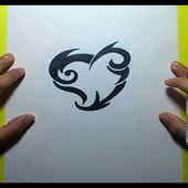 Como dibujar un tribal paso a paso 93 | How to draw one tribal 93