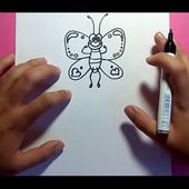 Como dibujar una mariposa paso a paso 9 | How to draw a butterfly 9