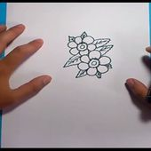 Como dibujar flores paso a paso 3 | How to draw flowers 3