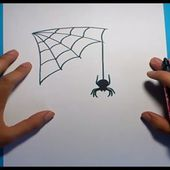 Como dibujar una araña paso a paso 5 | How to draw a spider 5