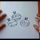 Como dibujar una bola de arbol de navidad paso a paso | How to draw a ball of Christmas tree
