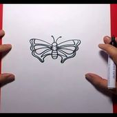 Como dibujar una mariposa paso a paso 6   How to draw a butterfly 6