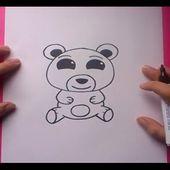 Como dibujar un oso de peluche paso a paso 9 | How to draw a teddy bear 9