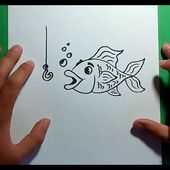 Como dibujar un pez paso a paso 10 | How to draw a fish 10