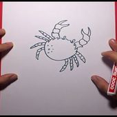 Como dibujar un cangrejo paso a paso 2 | How to draw a crab 2