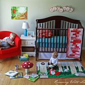 How to Make a Rug for a Child's Room. Plus a template to make it even easier.