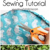 Circle Top Reversible Tote Sewing Tutorial - Sew What, Alicia?
