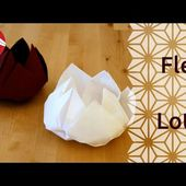 Origami - Fleur de lotus