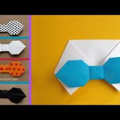 Make an Easy Origami Bow-tie Card for Dad
