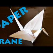 How to Make a Paper Crane - Origami