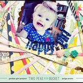 Scrap Your Stash: Happy Girl - PATTERNED PAPER - Two Peas in a Bucket