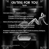 CASTING FOR YOU (#CastingForYou #CFY) : Tarifs