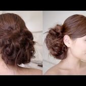 Bridal Messy Side Bun Hair Tutorial