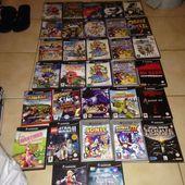 32 jeux gamecube et 11 jeux 64 en boite.