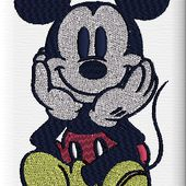 Mickey - Elkalin.Couture,broderie main machine