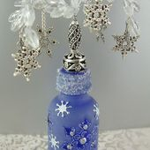 Artfully Musing: Frosting and Other Decorative Techniques for Altering Bottles- Tutorial