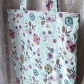 tuto: faire un sac pour les courses et sa pochette intégrée .