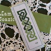 """Marque-pages Celte, """" Eire green & Family """". - Chez Mamigoz"""
