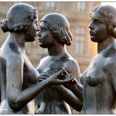 Trois Nymphes, les Trois Grâces de Maillol aux Tuileries - Images du Beau du Monde