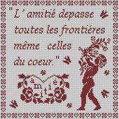 """"""" L'amitié du coeur"""" / """" The friendship of the heart"""" - Le Carnet D'une Brodeuse"""