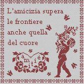 """"""" L'amicizia del cuore """" - Le Carnet D'une Brodeuse"""
