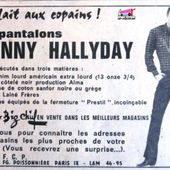 PUBLICITE PANTALONS JOHNNY HALLYDAY - PUB PANTALON JOHNNY - car-collector.net