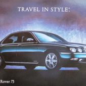 CARTE POSTALE NOUVELLE ROVER 75 - TRAVEL IN STYLE - car-collector.net