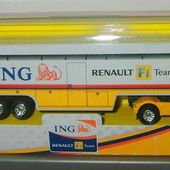 CAMION RENAULT F1 TEAM AVEC PUB ING DIRECT - car-collector
