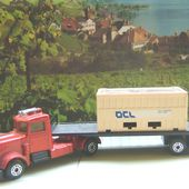 LONG HAUL CAMION MATCHBOX + REMORQUE + 1 CONTAINER - car-collector.net