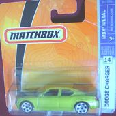 DODGE CHARGER 2005 MATCHBOX N°14 COULEUR VERTE - car-collector.net